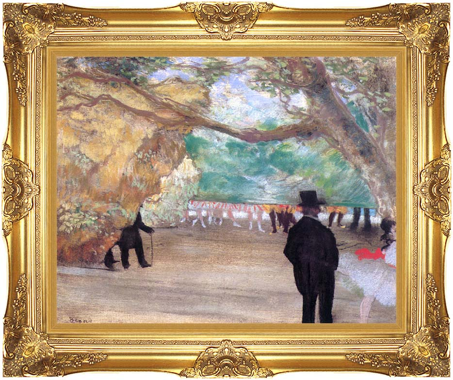 Edgar Degas The Curtain with Majestic Gold Frame
