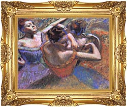 Edgar Degas The Dancers canvas with Majestic Gold frame