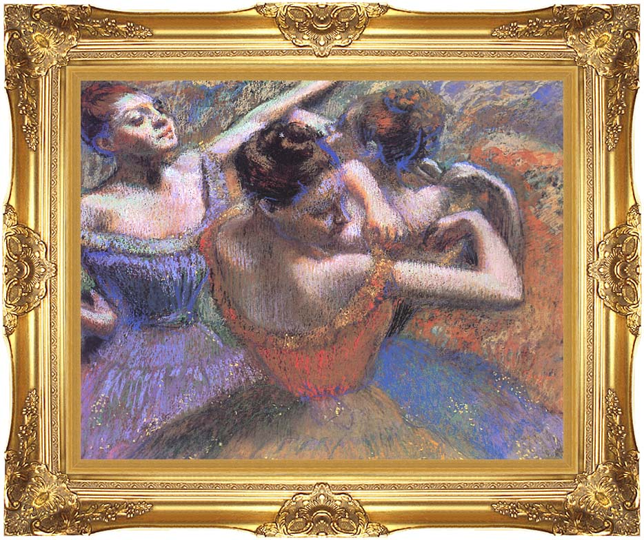 Edgar Degas The Dancers with Majestic Gold Frame