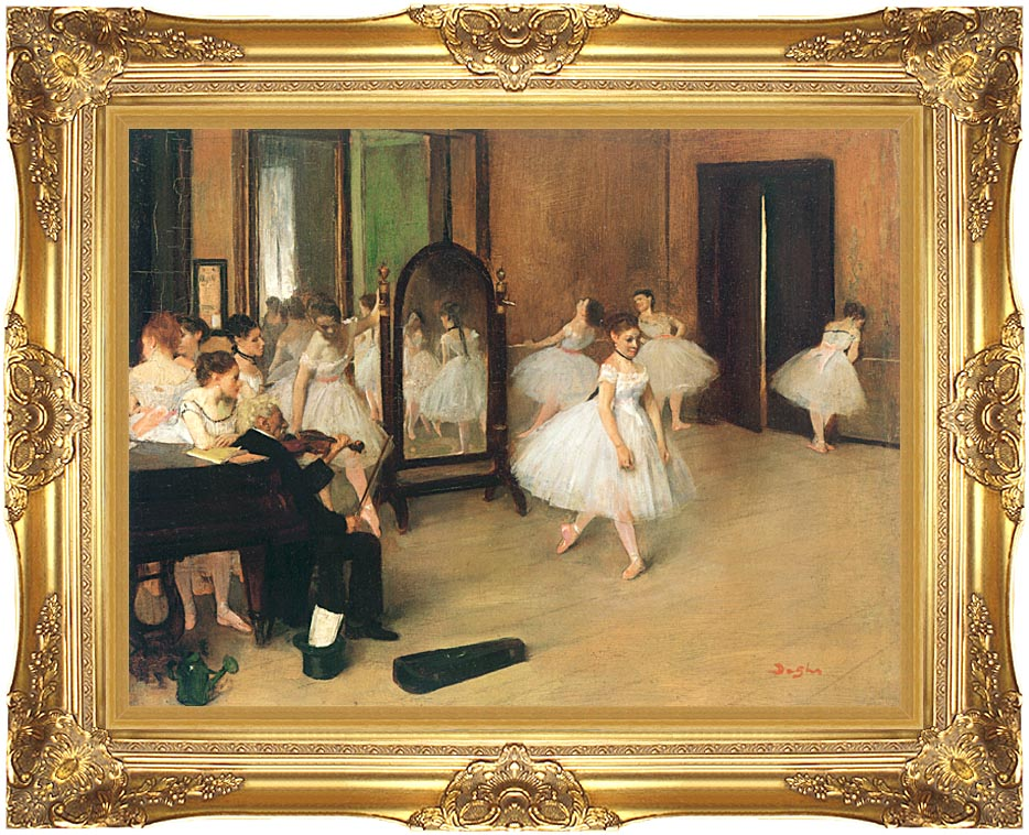 Edgar Degas The Dancing Class with Majestic Gold Frame