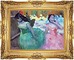 Edgar Degas The Entry Of The Masked Dancers canvas with Majestic Gold frame
