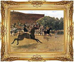 Edgar Degas The False Start canvas with Majestic Gold frame