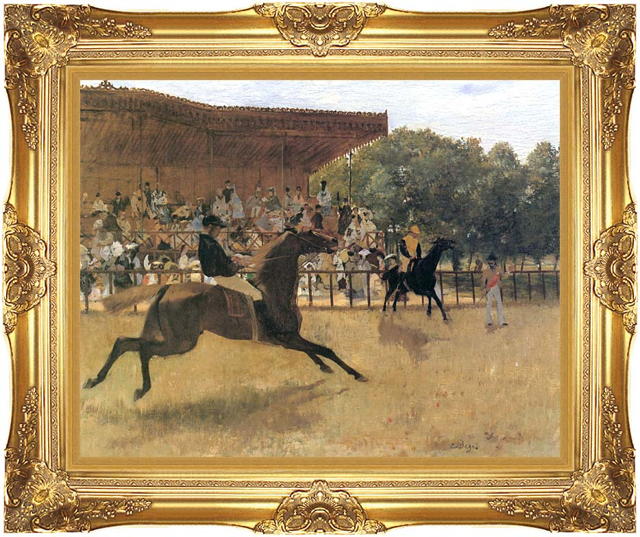 Edgar Degas The False Start with Majestic Gold Frame