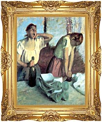 Edgar Degas The Ironers canvas with Majestic Gold frame