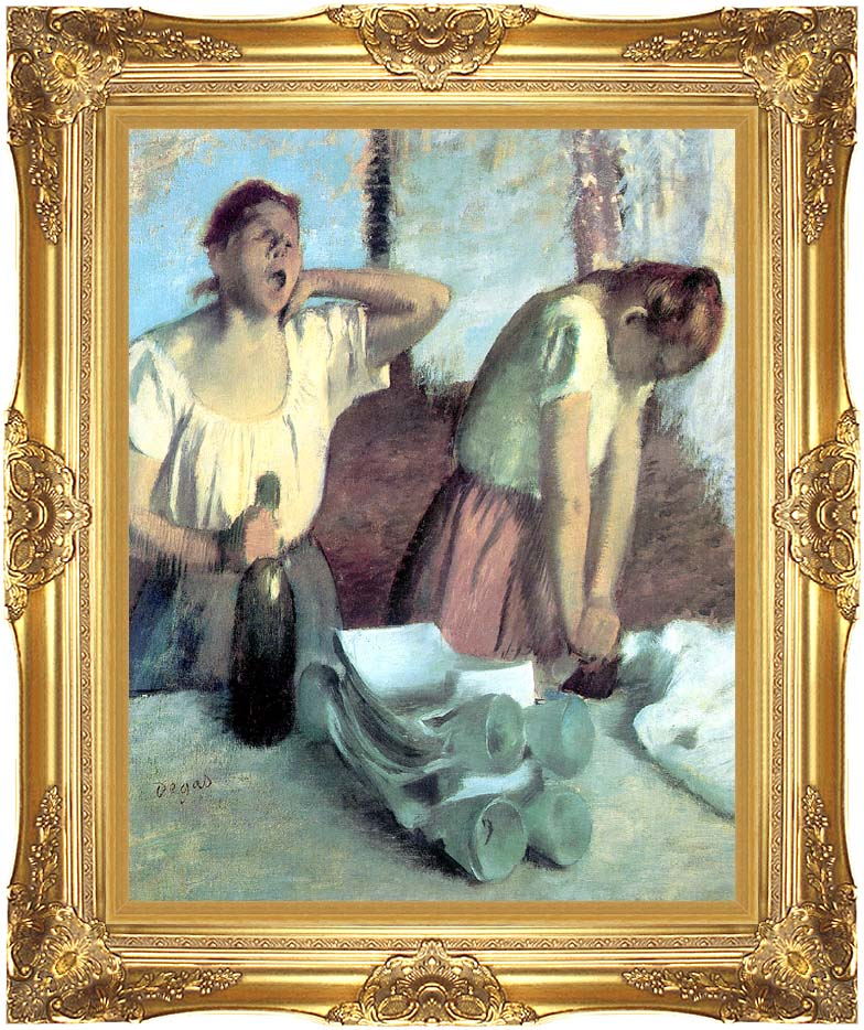 Edgar Degas The Ironers with Majestic Gold Frame