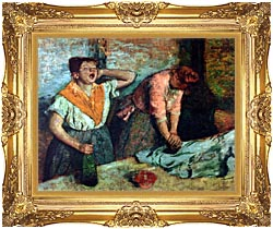 Edgar Degas The Laundresses canvas with Majestic Gold frame
