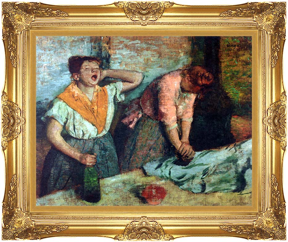 Edgar Degas The Laundresses with Majestic Gold Frame