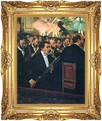 Edgar Degas The Orchestra Of The Opera canvas with Majestic Gold frame