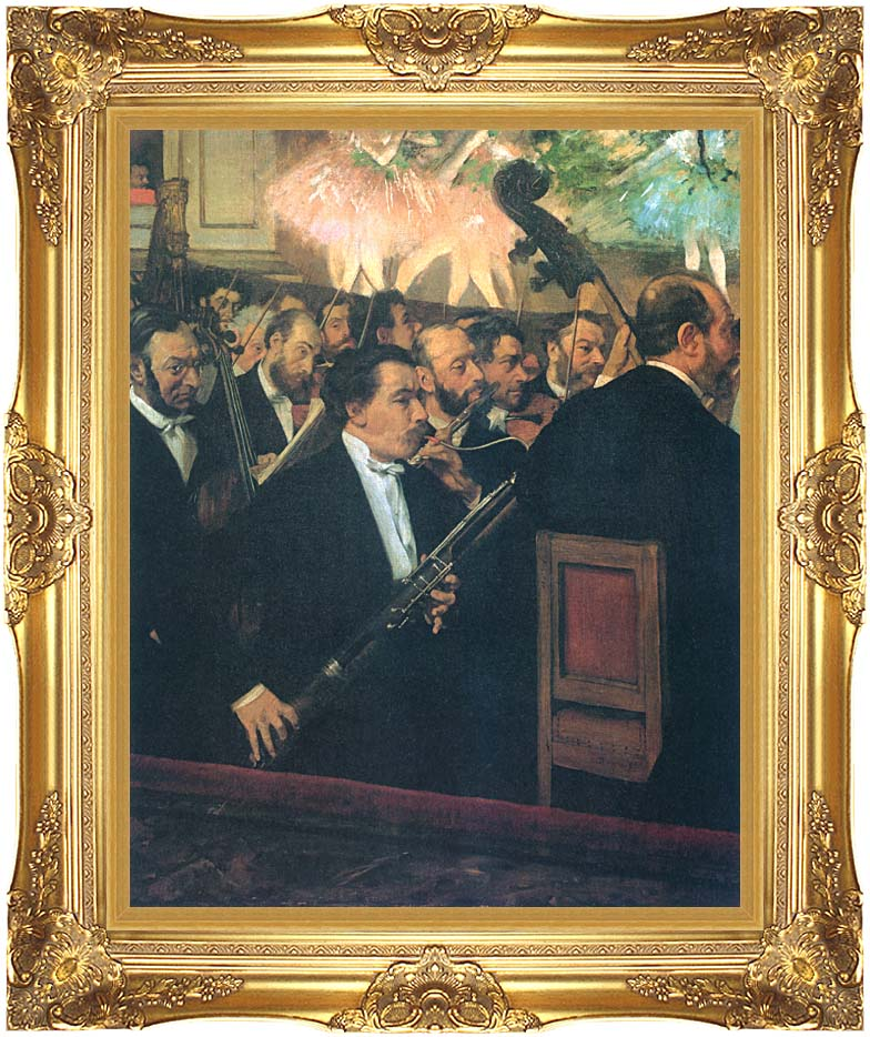 Edgar Degas The Orchestra of the Opera with Majestic Gold Frame