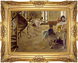 Edgar Degas The Rehearsal canvas with Majestic Gold frame