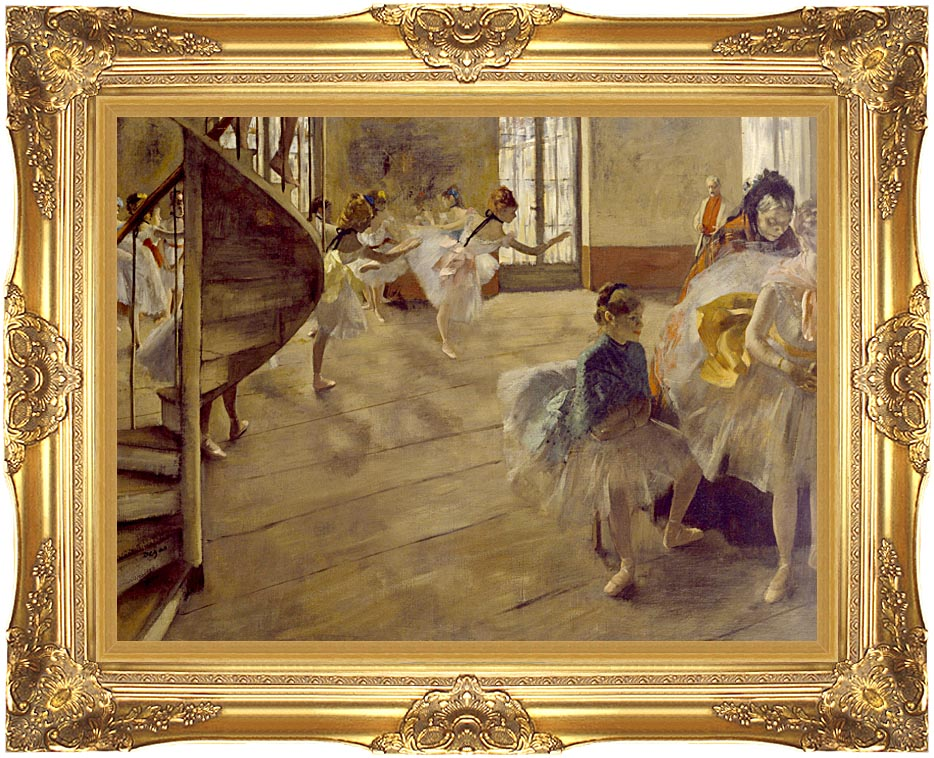 Edgar Degas The Rehearsal with Majestic Gold Frame