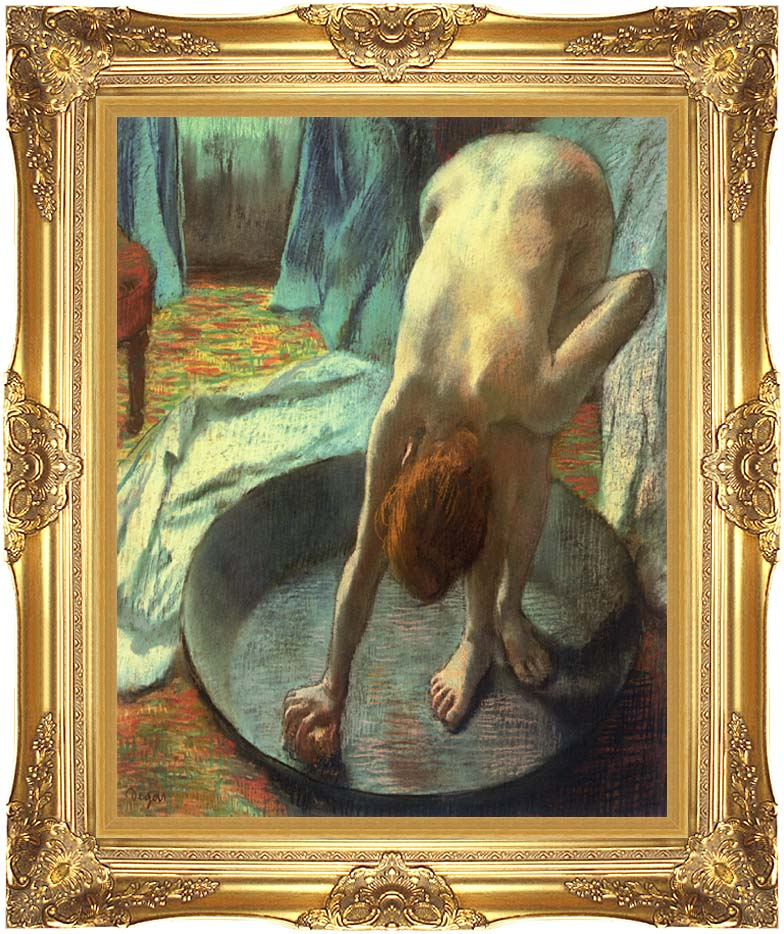 Edgar Degas The Tub (detail) with Majestic Gold Frame