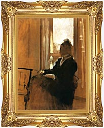 Edgar Degas Woman At A Window canvas with Majestic Gold frame