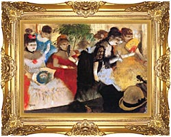 Edgar Degas Cafe Concert canvas with Majestic Gold frame