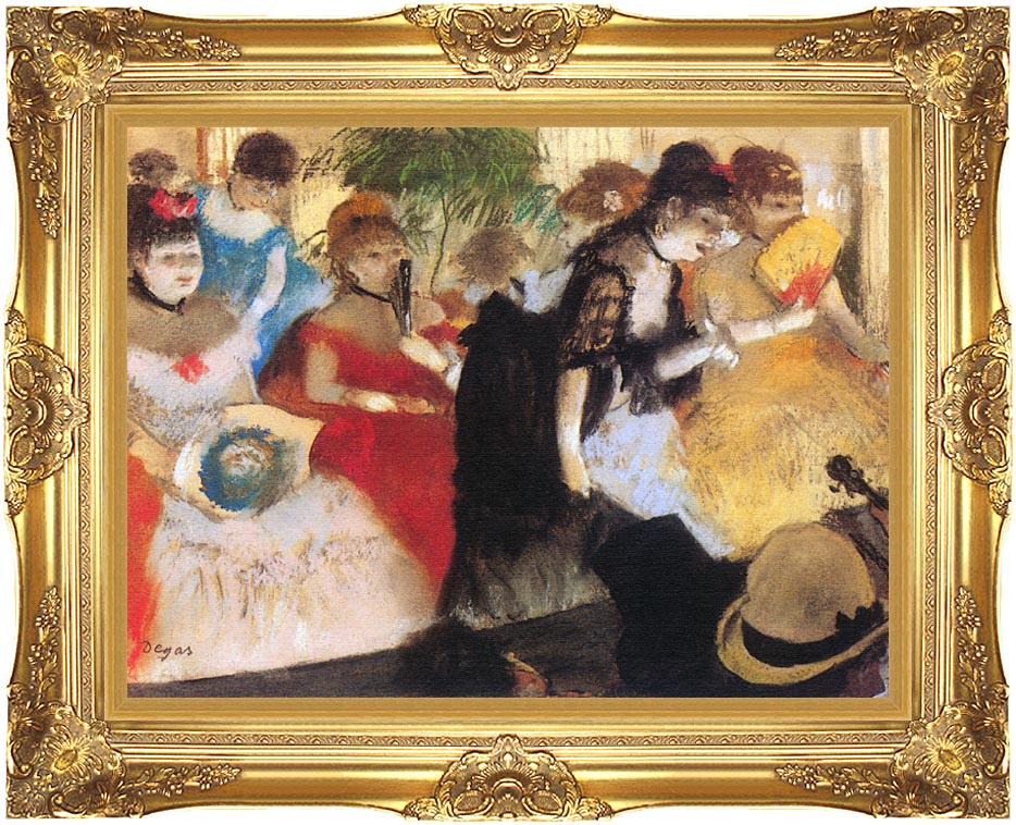 Edgar Degas Cafe Concert with Majestic Gold Frame