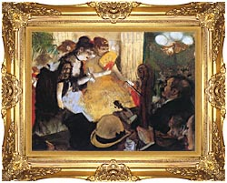 Edgar Degas Cafe Concert Right Detail canvas with Majestic Gold frame