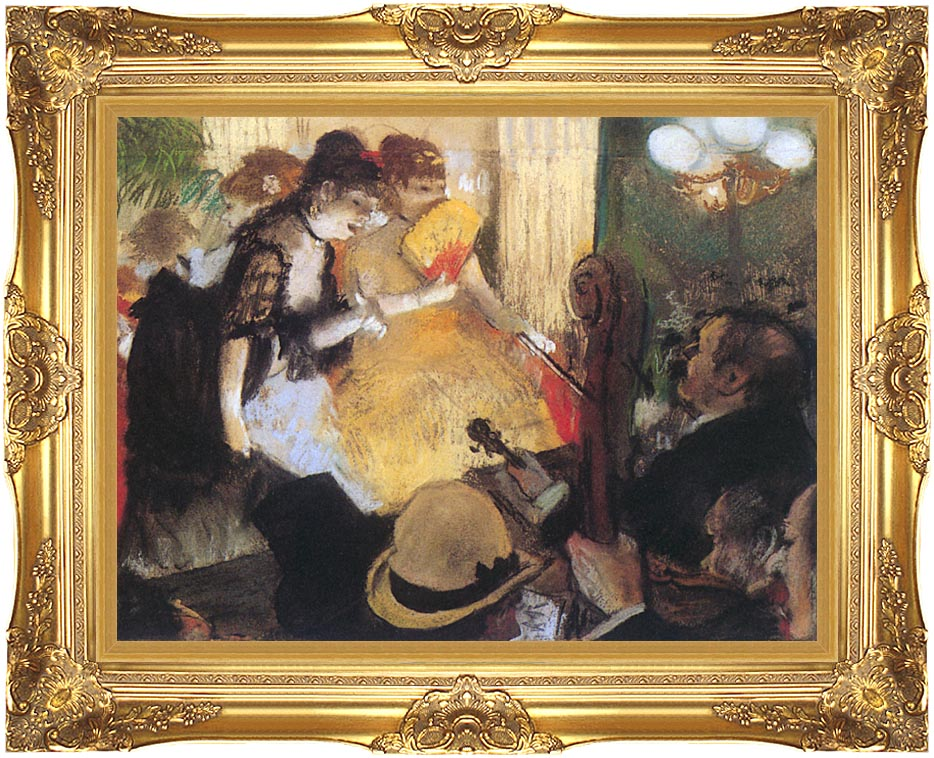 Edgar Degas Cafe Concert (right detail) with Majestic Gold Frame