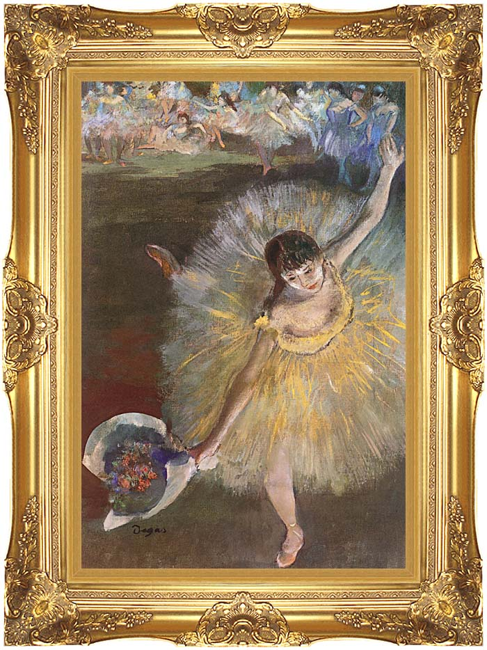 Edgar Degas Fin d'arabesque with Majestic Gold Frame