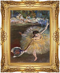 Edgar Degas Fin Darabesque Detail canvas with Majestic Gold frame