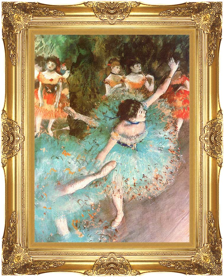 Edgar Degas The Green Dancer with Majestic Gold Frame
