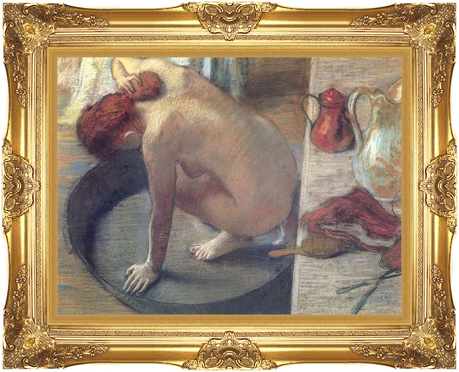 Edgar Degas Degas The Tub with Majestic Gold Frame