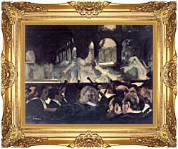 Edgar Degas Ballet Scene From Robert The Devil canvas with Majestic Gold frame