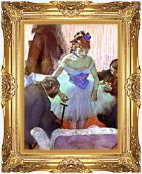 Edgar Degas Before The Entrance On Stage canvas with Majestic Gold frame