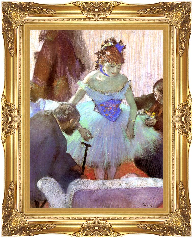Edgar Degas Before the Entrance on Stage with Majestic Gold Frame