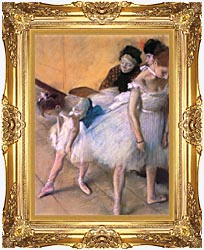 Edgar Degas Before The Rehearsal canvas with Majestic Gold frame