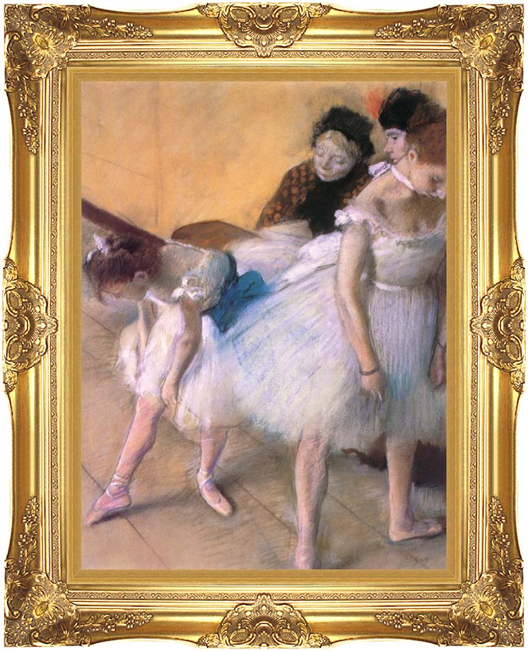 Edgar Degas Before The Rehearsal with Majestic Gold Frame