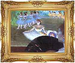 Edgar Degas Dancer With A Bouquet canvas with Majestic Gold frame