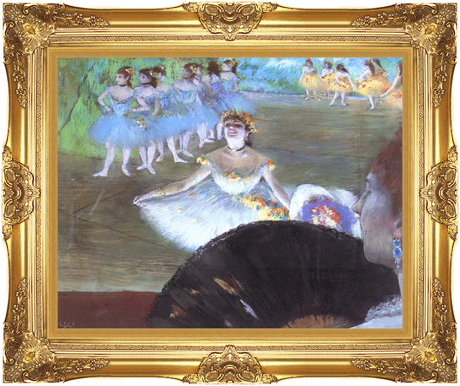 Edgar Degas Dancer with a Bouquet with Majestic Gold Frame
