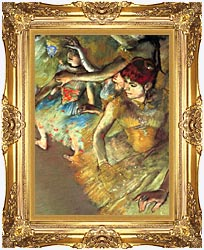 Edgar Degas Dancers canvas with Majestic Gold frame