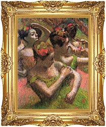 Edgar Degas Ballet Dancers canvas with Majestic Gold frame