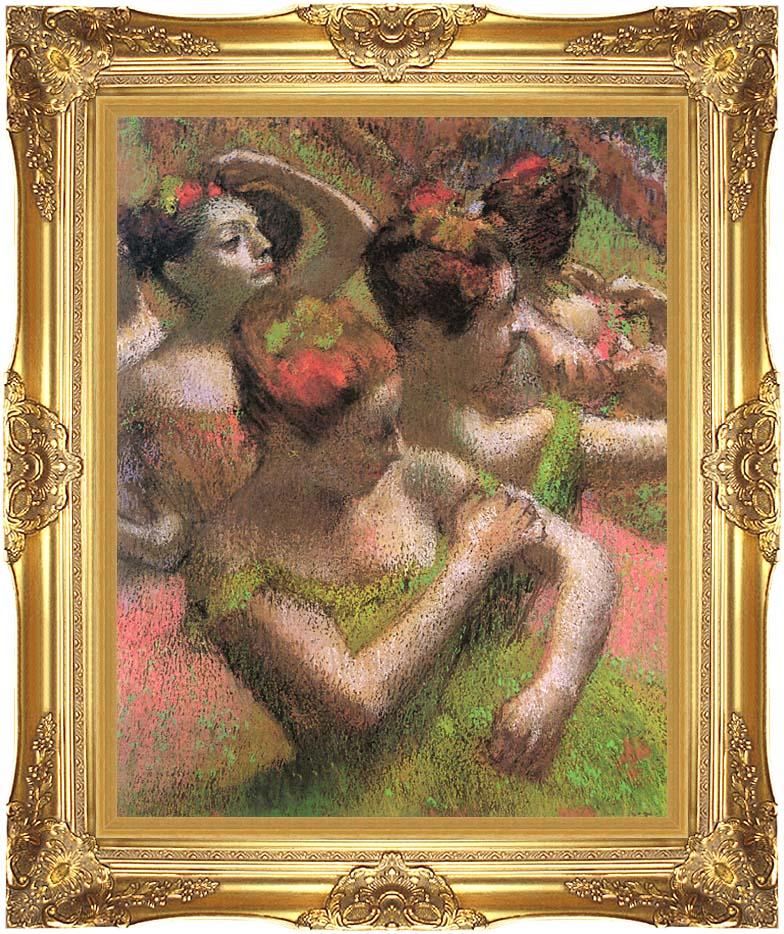 Edgar Degas Ballet Dancers with Majestic Gold Frame