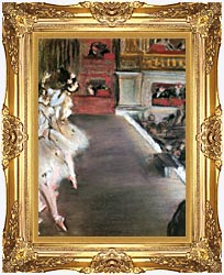 Edgar Degas Dancers At The Old Opera House canvas with Majestic Gold frame