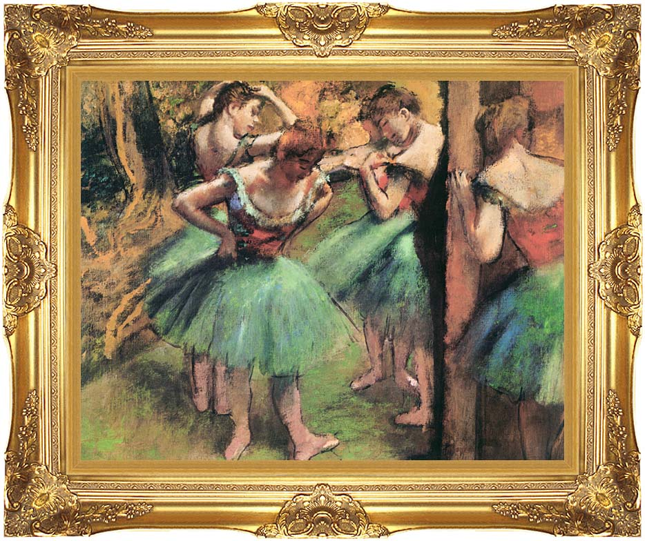 Edgar Degas Dancers, Pink and Green with Majestic Gold Frame