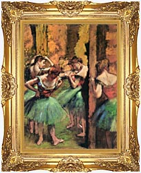 Edgar Degas Dancers In Pink And Green canvas with Majestic Gold frame
