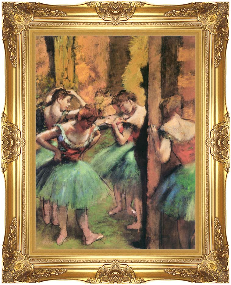 Edgar Degas Dancers in Pink and Green with Majestic Gold Frame