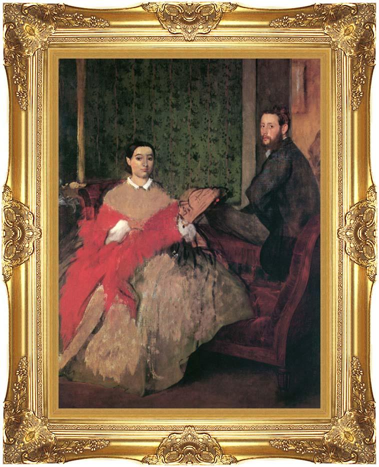 Edgar Degas Edmondo and Therese Morbilli with Majestic Gold Frame