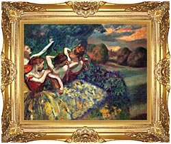 Edgar Degas Four Dancers canvas with Majestic Gold frame