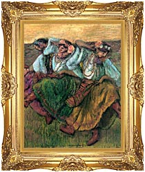 Edgar Degas Les Danseuses Russes canvas with Majestic Gold frame