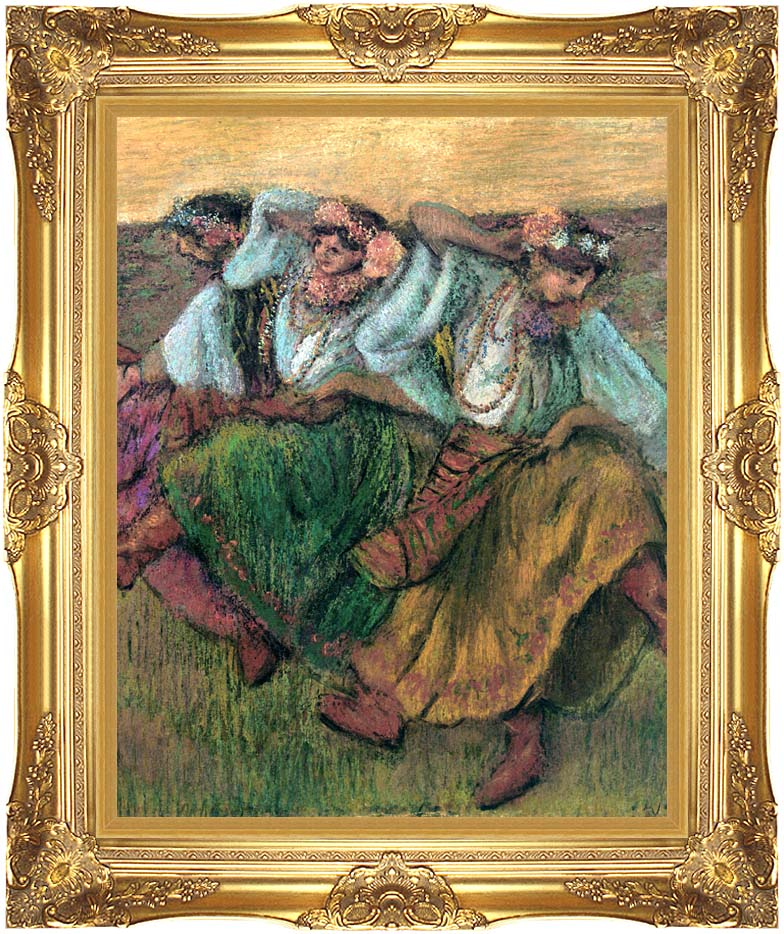 Edgar Degas Les Danseuses Russes with Majestic Gold Frame