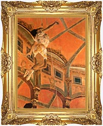 Edgar Degas Miss Lala At Cirque Fernando canvas with Majestic Gold frame