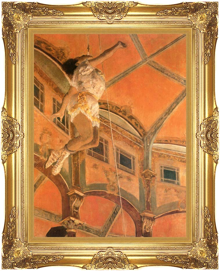 Edgar Degas Miss Lala at Cirque Fernando with Majestic Gold Frame