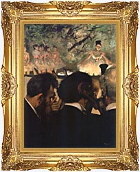 Edgar Degas Musicians In The Orchestra canvas with Majestic Gold frame
