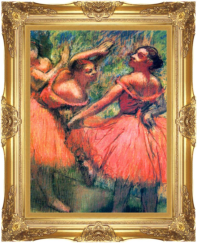 Edgar Degas Red Skirts with Majestic Gold Frame