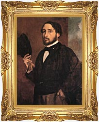 Edgar Degas Edgar Degas Self Portrait canvas with Majestic Gold frame