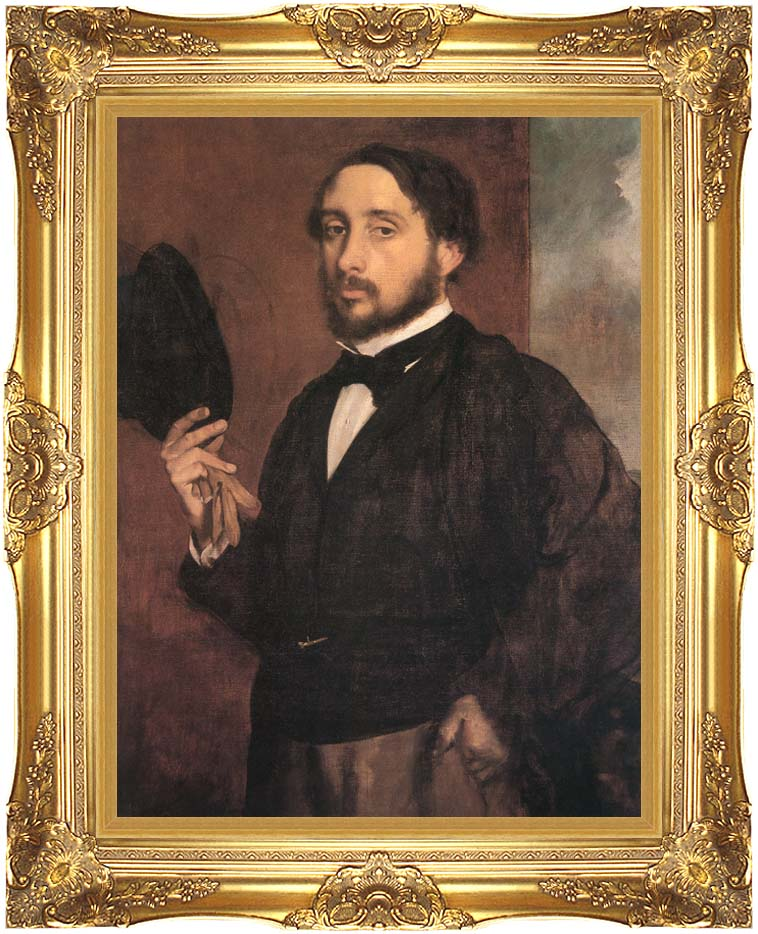 Edgar Degas Edgar Degas Self-Portrait with Majestic Gold Frame