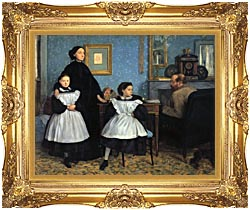Edgar Degas The Bellelli Family canvas with Majestic Gold frame